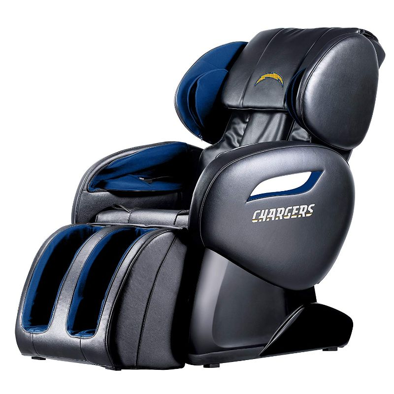 NFL Electric Full Body Shiatsu Massage Chair with Foot Roller-Los Angeles Chargers-Daily Steals