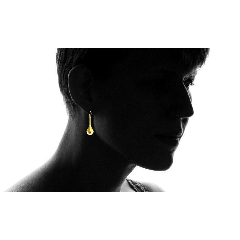 18K Gold Over Sterling Silver Teardrop Earrings-