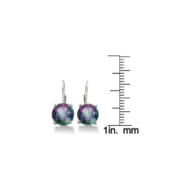 Daily Steals-18K Plated White Gold Mystic Topaz Earrings-Jewelry-