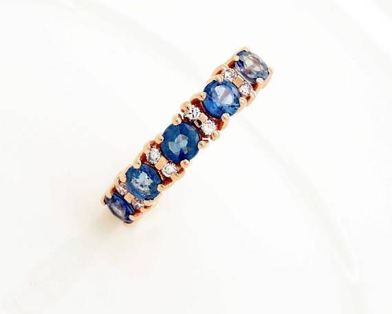 Daily Steals-18KT Rose Gold Plated Cubic Zirconia Fancy Rings-Jewelry-6-Sapphire-