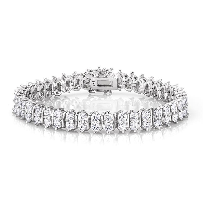 Daily Steals-18kt White Gold Plated Classic Tennis Bracelet-Jewelry-