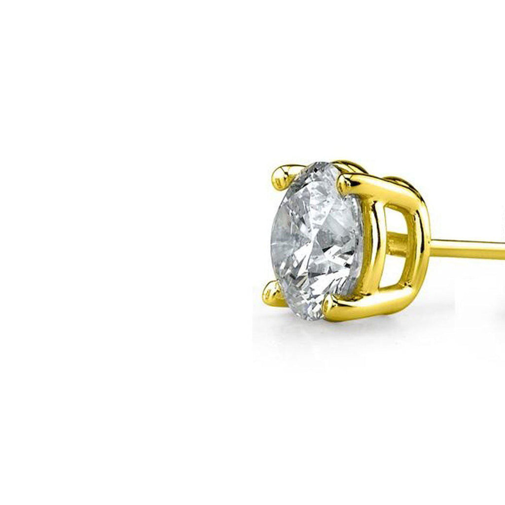 Daily Steals-18kt Yellow Gold Plated Cubic Zirconia Stud Earrings-Jewelry-