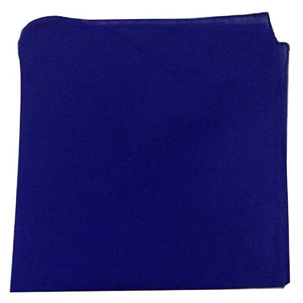 100% Cotton 18 Pack Bandana - 22 x 22-Solid Royal Blue-Daily Steals