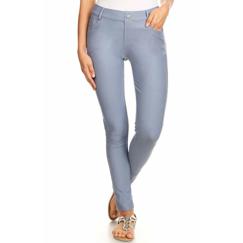 Ensemble de coton Jeggings-Slate Grey-Large-Daily-Steals pour femme