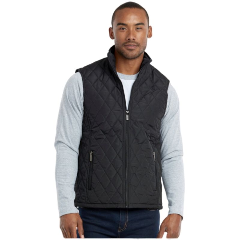 Men's Diamond Quilted Puffer Vest-Black-S-Daily Steals