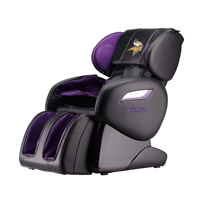 NFL Electric Full Body Shiatsu Massage Chair with Foot Roller-Minnesota Vikings-Daily Steals
