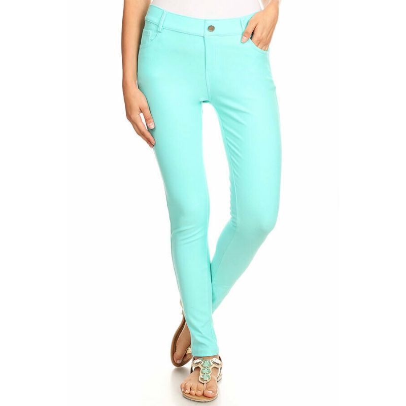Ensemble de coton Jeggings-Turquoise-Large-Daily-Steals pour femme