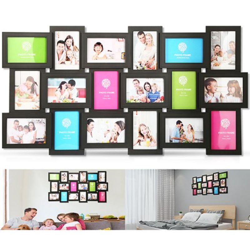 18 Opening Photo Collage Wall Hanging Picture Frame