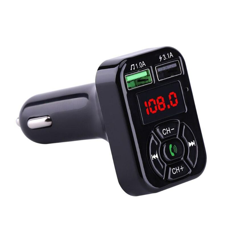 Bluetooth FM Transmitter Car Charger Kit -All-In-One