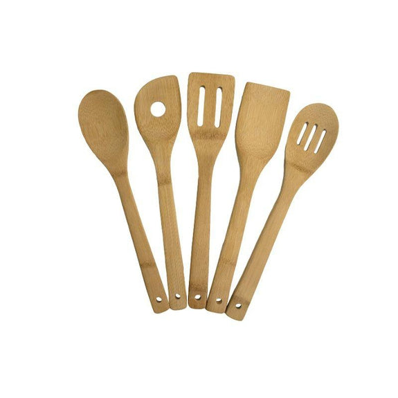 5 and 10 Piece Bamboo Kitchen Utensil Set-5 Piece Set-Daily Steals