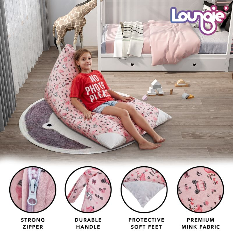 "Loungie Stuffed Animal Storage Bean Bag Cover - 55"" x 35"""