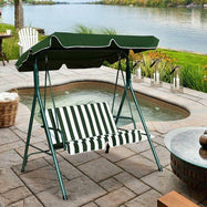 Causeuse Amorti Patio Cadre En Acier Swing Glider-Green-Daily Steals