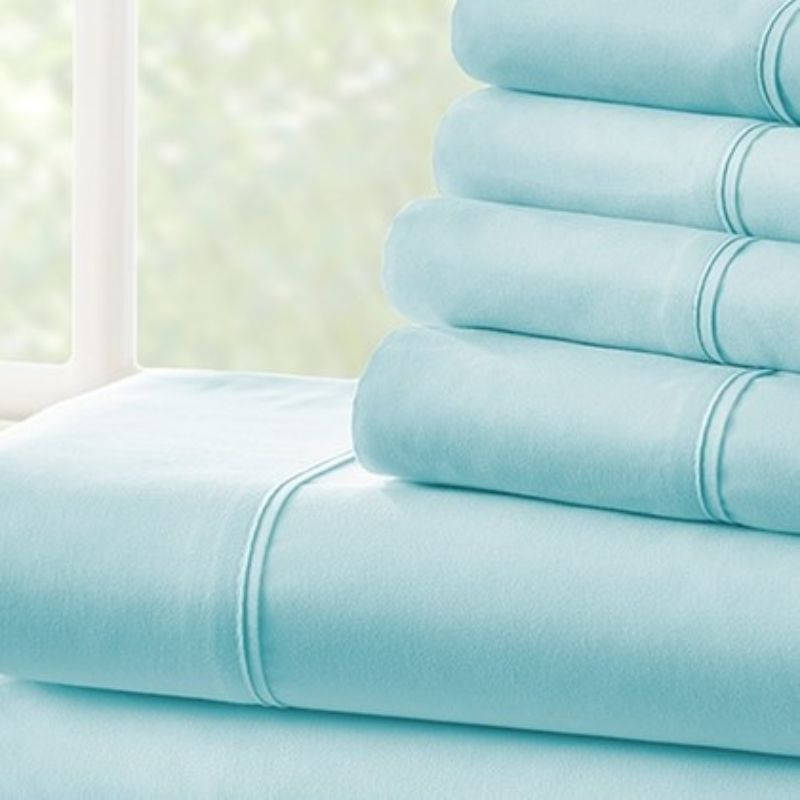 Microfiber Merit Linens Bed Sheets Sets - 6 Piece-Daily Steals