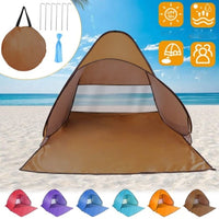 2-3 Person Pop Up Beach Tent Sun Shade Shelter with Net Window