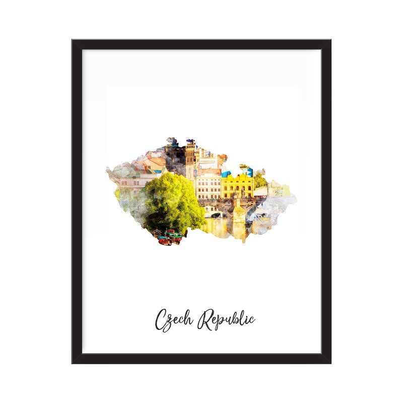 Czech Republic Watercolor Map Print - Unframed Art Print-Daily Steals