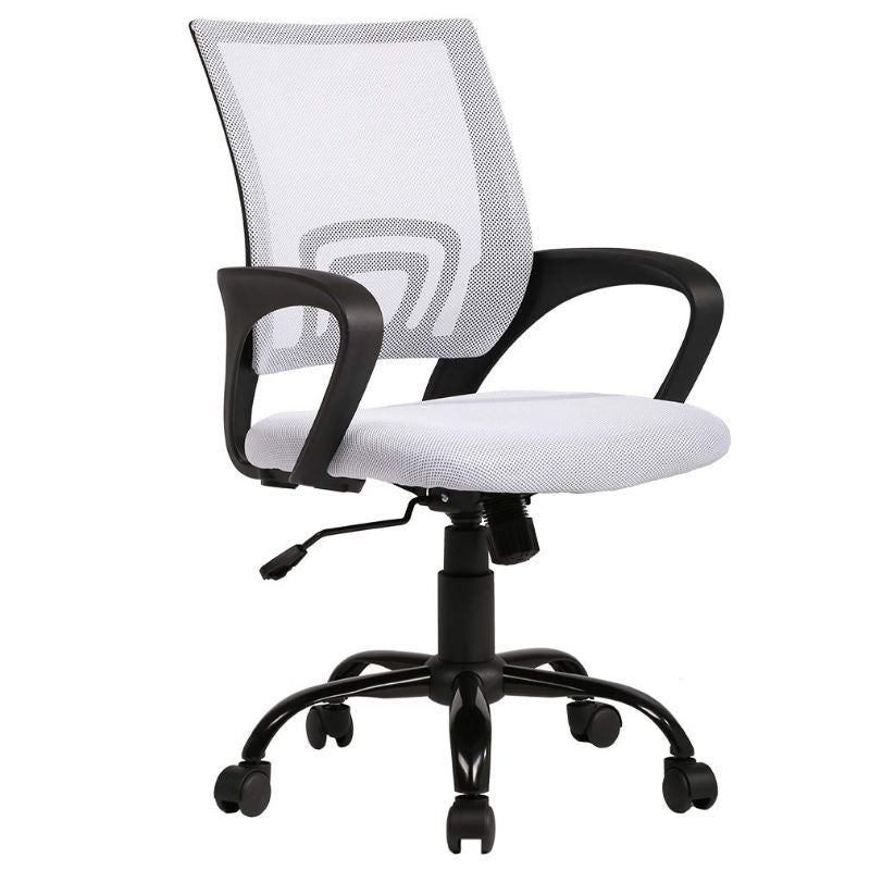 Mesh Ergonomic Office Chair-White-Daily Steals