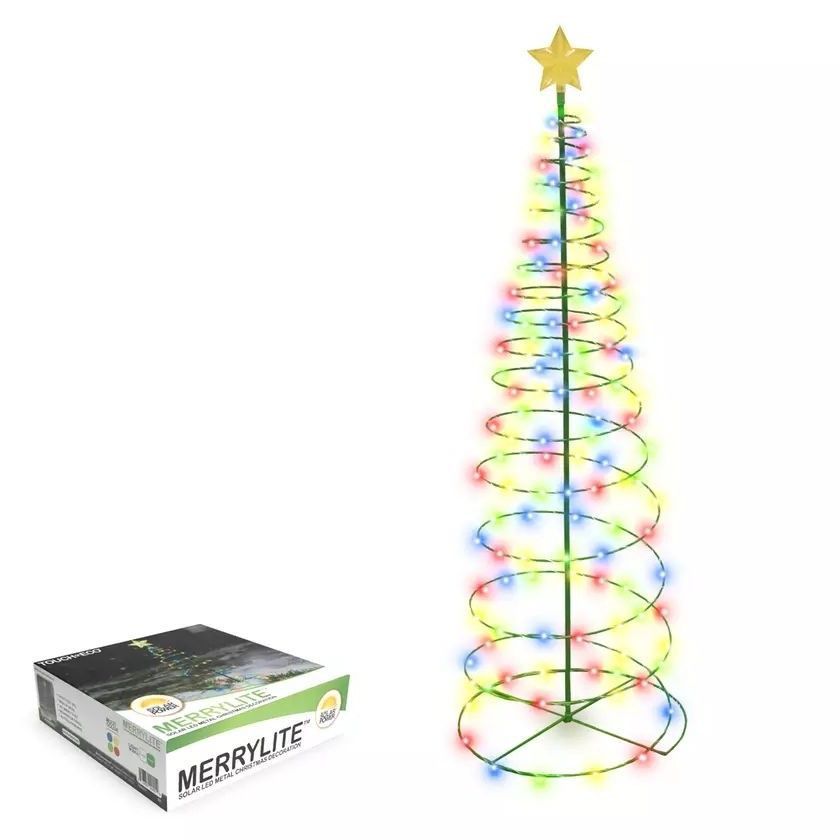 Outdoor Solar Powered LED Metal Christmas Tree