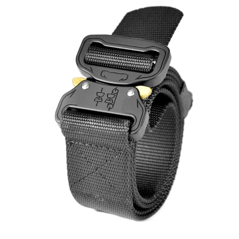 "Tactical 1.5"" Military Style Heavy-Duty Belt, Fast-Release Metal Buckle-Black-Daily Steals"