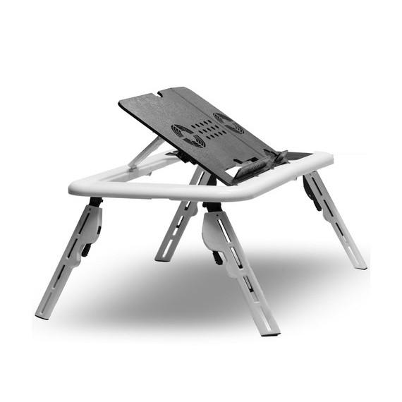 Flexible Portable Laptop Table with Cooling Fans-Laptop Table-Daily Steals