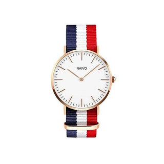 Daniel Wellington Inspired Watch with 18K Rose Gold Plate
