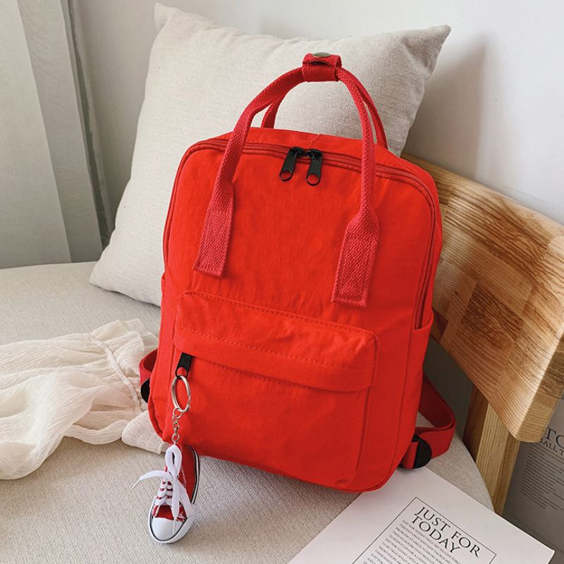 Mini Unisex Daily Backpack with FREE Shoe Keychain-Red-Daily Steals