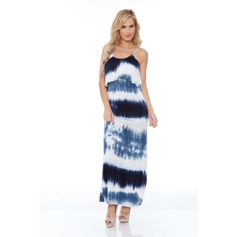 WhiteMark 'Kalea' Tie Dye Overlay Maxi Dress-Daily Steals