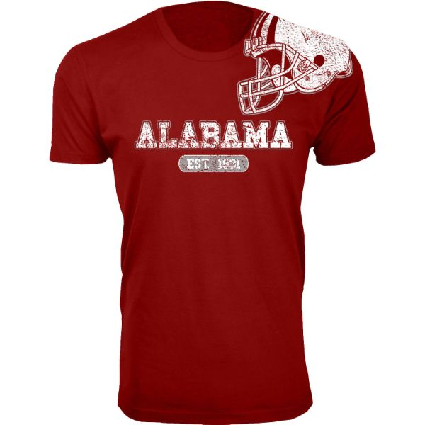 Men's Awesome College Football Helmet T-Shirts-S-Alabama - Burgundy-Daily Steals