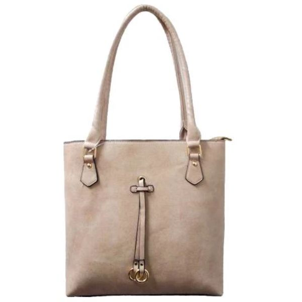 Patterson Leather Emily Tote-Apricot-Daily Steals