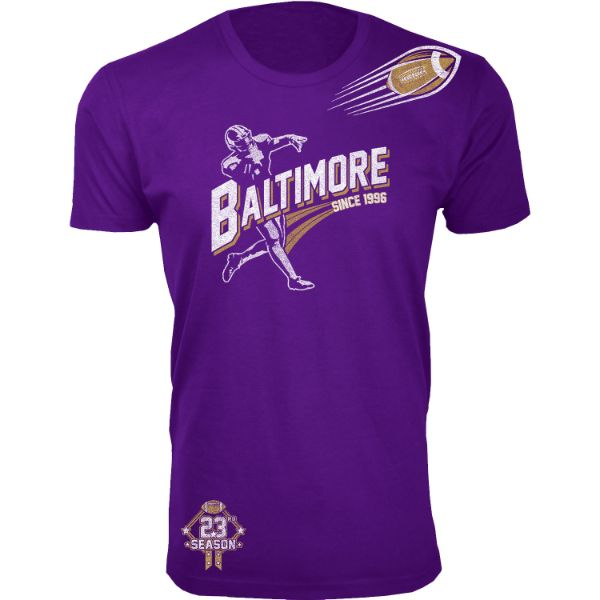 Men's Football Season T-Shirts-Baltimore - Purple-S-Daily Steals