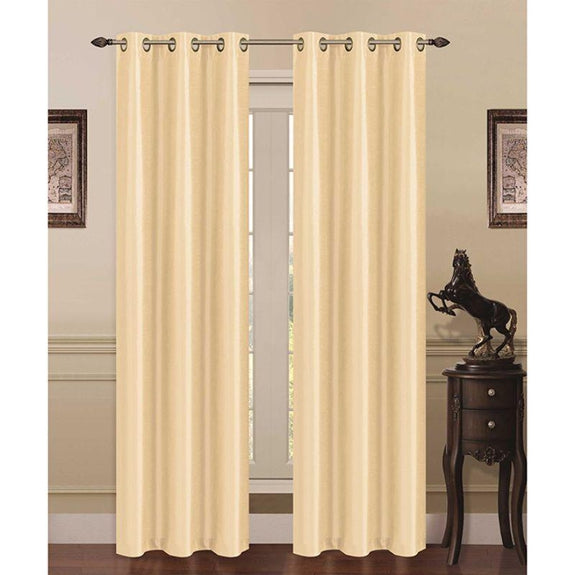 Thermal Energy-Saving Madonna Blackout Curtains - Two Panels-Beige-Daily Steals