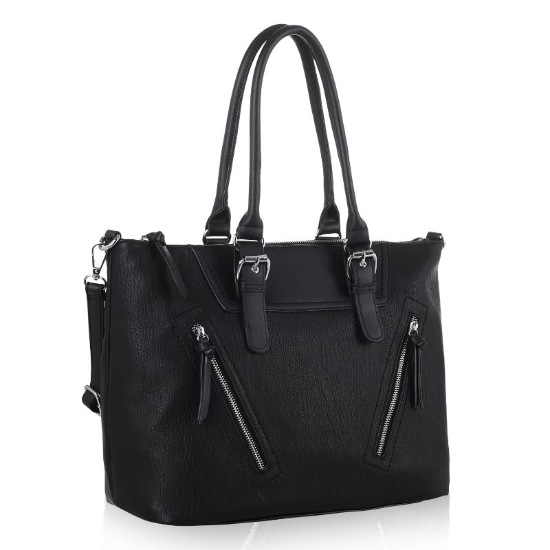 Leone Satchel Handbag by MKF-Black-Daily Steals