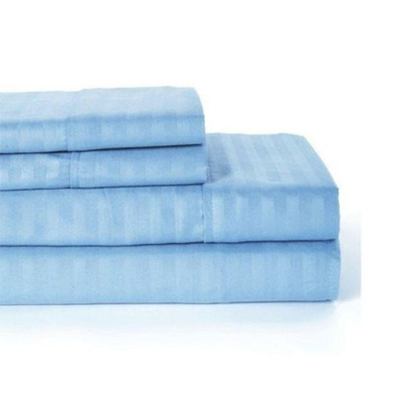 Ultra-Soft Lux Decor Striped 1800 Series Sheets-Blue-Twin-Daily Steals