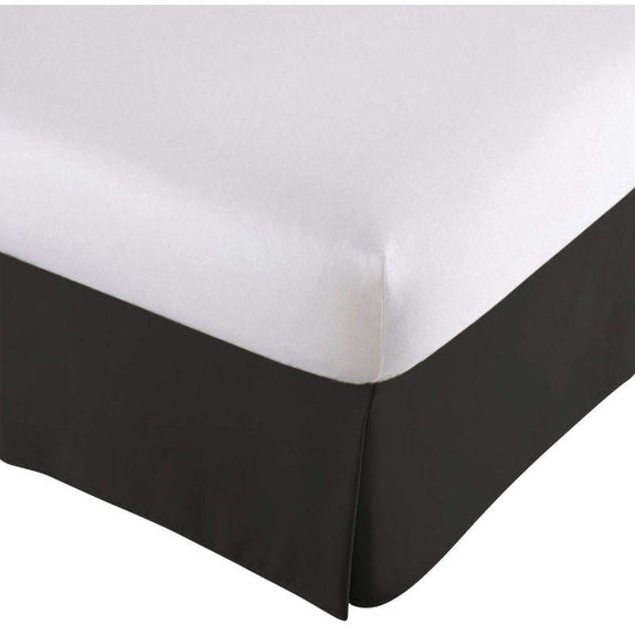 100% Ultra-Plush Microfiber Bed Skirt-Black-Pleated-Full-Daily Steals