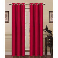 Thermal Energy-Saving Madonna Blackout Curtains - Two Panels-Burgundy-Daily Steals