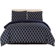 3 Piece Ultra Soft Egyptian Quality Duvet Cover Set-Black/White-Full/Queen-Daily Steals
