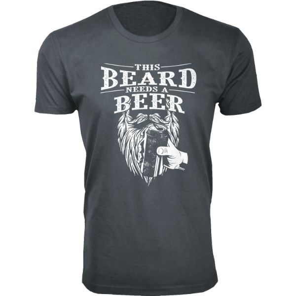 Daily Steals-Men's 'Awesome Beard' T-shirts-Men's Apparel-This Beard Needs A Beer - Charcoal-S-