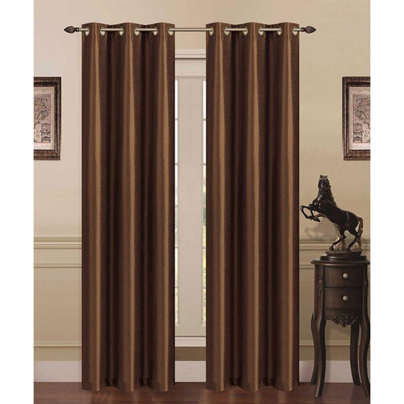 Thermal Energy-Saving Madonna Blackout Curtains - Two Panels-Coffee-Daily Steals