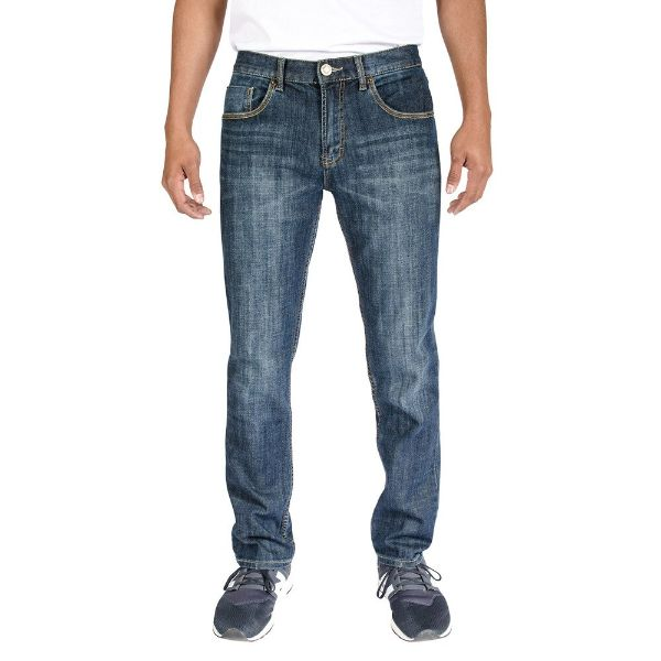 Men's Stretch Skinny Slim Fit 5-Pocket Fashion Jeans-Dark Vintage Wash-32x32-Daily Steals