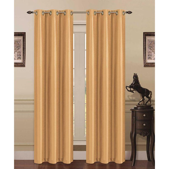 Thermal Energy-Saving Madonna Blackout Curtains - Two Panels-Gold-Daily Steals