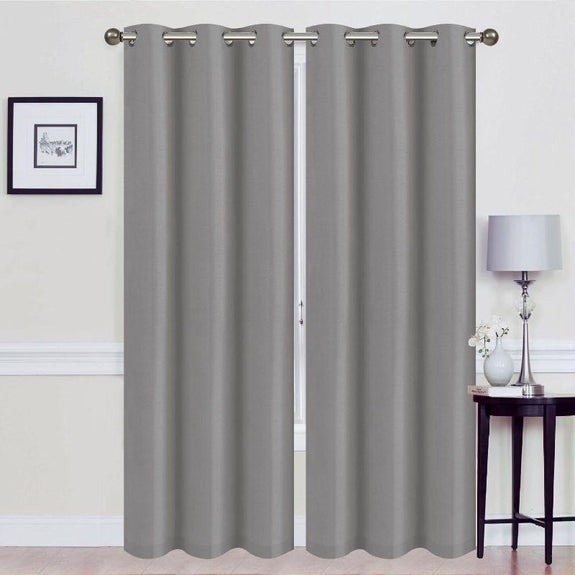 Thermal Energy-Saving Madonna Blackout Curtains - Two Panels-Grey-Daily Steals