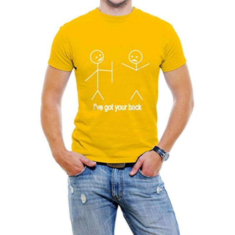 """I've got your back"" Men's T-Shirt-Yellow-4XL-Daily Steals"