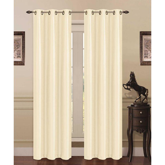Thermal Energy-Saving Madonna Blackout Curtains - Two Panels-Ivory-Daily Steals