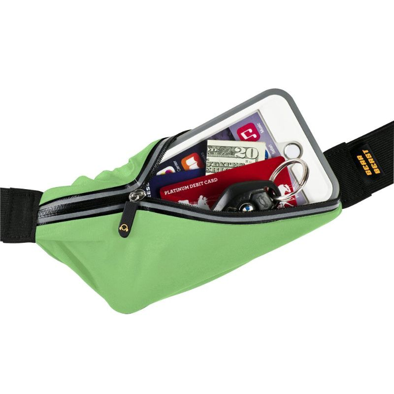 Gear Beast Sports Waist Pack Running Belts - 2 Pack-Lime-Daily Steals