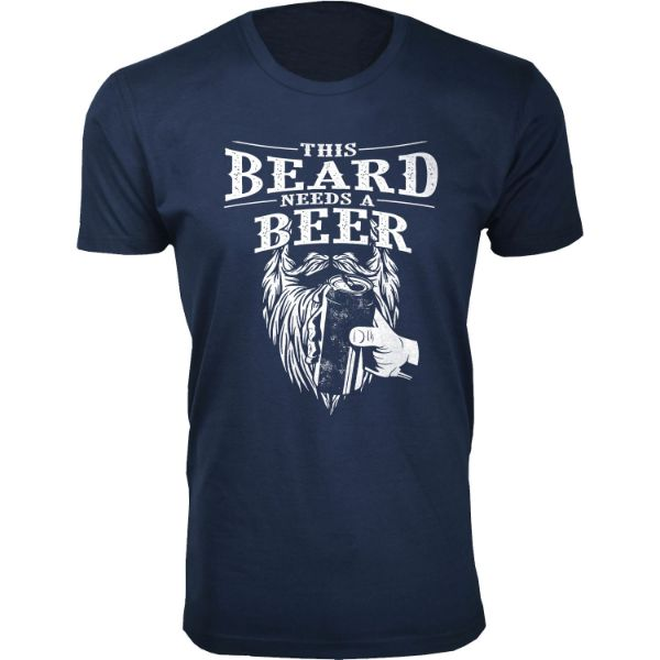 Daily Steals-Men's 'Awesome Beard' T-shirts-Men's Apparel-This Beard Needs A Beer - Navy-3XL-