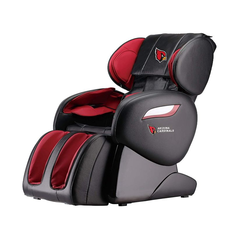 NFL Electric Full Body Shiatsu Massage Chair with Foot Roller-Arizona Cardinals-Daily Steals