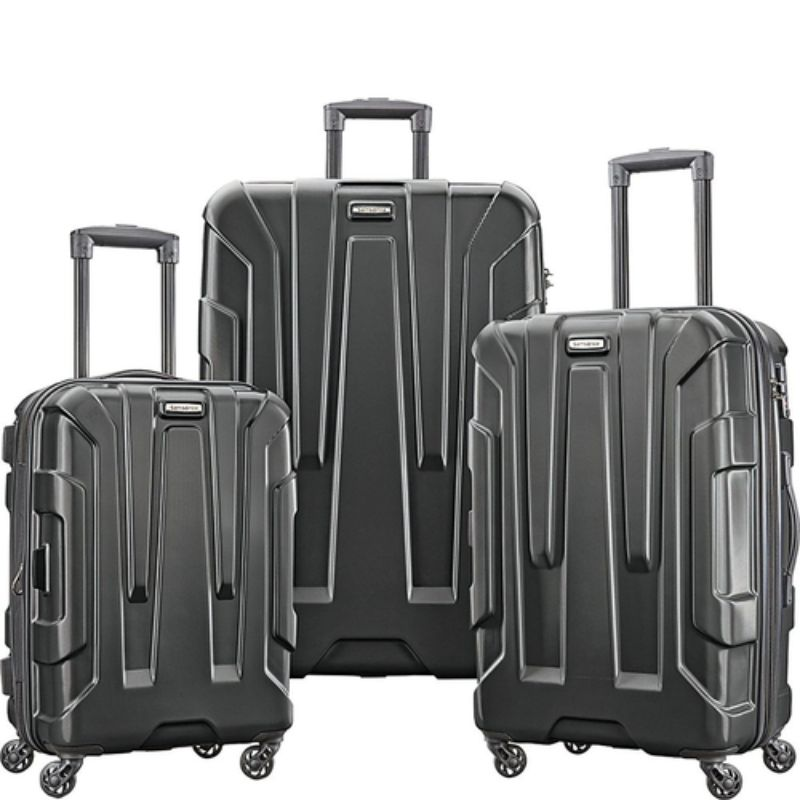 "Samsonite Centric 3pc Nested Hardside Spinner Luggage Set - 20"", 24"", 28""-Black-Daily Steals"