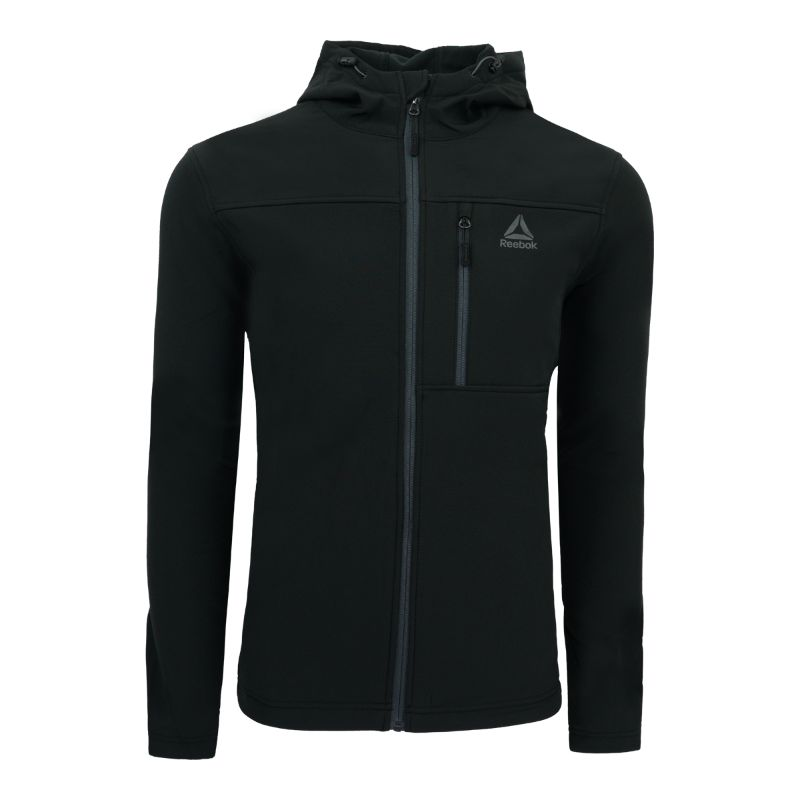 Reebok Men's Hooded Softshell Jacket-Black-M-Daily Steals
