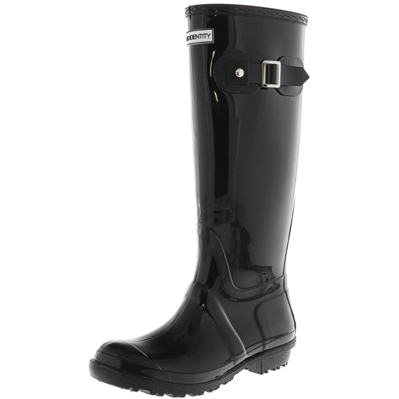 Exotic Identity Original Tall or Short Rain Boots-Shiny Black - Tall-6M-Daily Steals