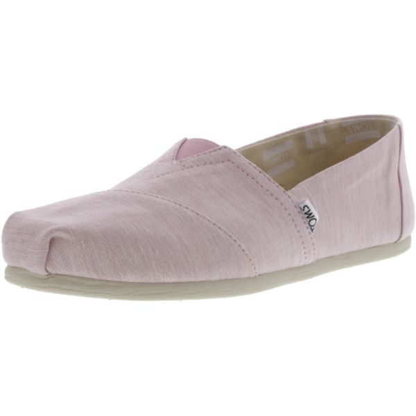 Toms Women's Classic Slub Chambray Ankle-High Canvas Slip-On Shoes-Pink-9.5-Daily Steals