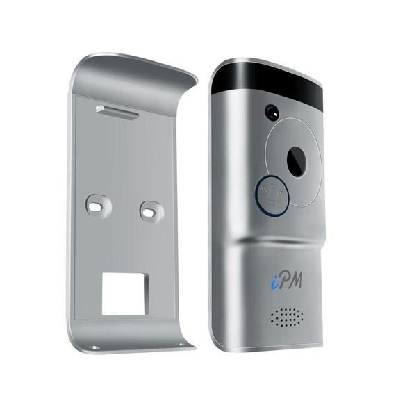 Daily Steals-IPM Apex Smart Video Doorbell with Two-Way Audio and iOS/Android App-Home and Office Essentials-Black-